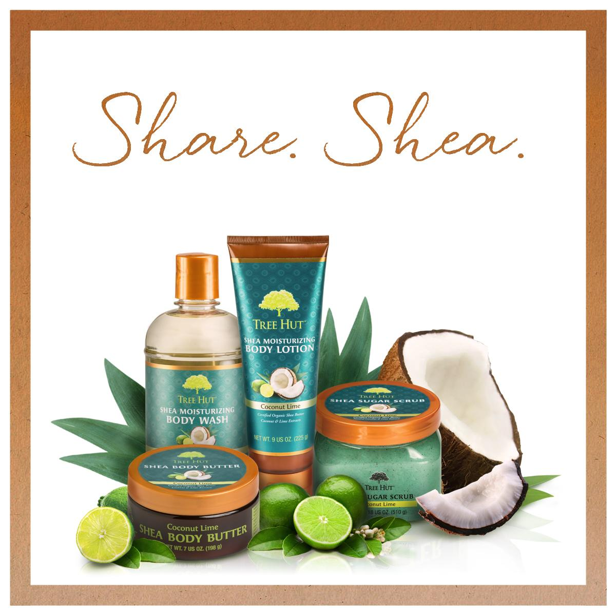 #ShareForShea - Share our status on Facebook for a chance to win Coconut Lime Body Butter! http://t.co/b9T3FyKVe7 http://t.co/qhyI2tDrKg