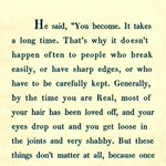 RT @Bela_Krishna: Some word just know where to go and settle in your being! #theVelveteenRabbit  #WordsAreNotInert