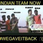 RT @katupoochi: #WeGaveItBack :'( Satya sothanai @Premgiamaren @dirvenkatprabhu #IndvsAus