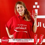 As joyful and nice as she can be! مرحة و ظريفة..هيك هي دينا! #ShareHappiness #CokeJo #ShareACoke http://t.co/RhrbieIqyE