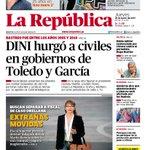 ¡Buenos días! Nuestra portada de hoy: DINI hurgó a civiles en gobiernos de Toledo y García http://t.co/NSfNts6o45 http://t.co/AHLPtZzHGQ