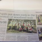 Great pics of @CombeDownCEVC & St Martins Garden pupils planting trees at @MulberryPkBath in @BathChron today http://t.co/8hE37ynIzW