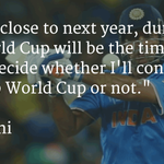 Dhoni to take stock of future after 2016 World T20 http://t.co/bJ2YpJo7T7 http://t.co/EUElZeh3vR