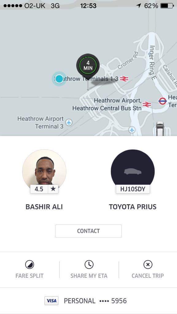 So this @Uber_LDN driver thinks it's ok to F and blind at a customer?? Honestly if it wasn't raining boyyyyyy!!!! http://t.co/W0L53MICjJ