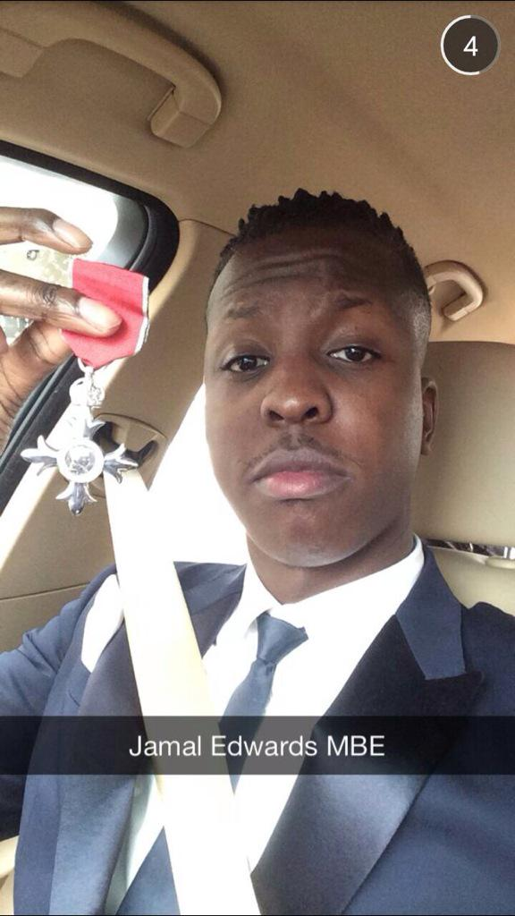 Jamal Edwards MBE. http://t.co/wSKthO20gf