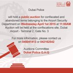 #Public #Auction Announcement #Dubai #Police #UAE #Dubai_Police http://t.co/yl2ykFM10B
