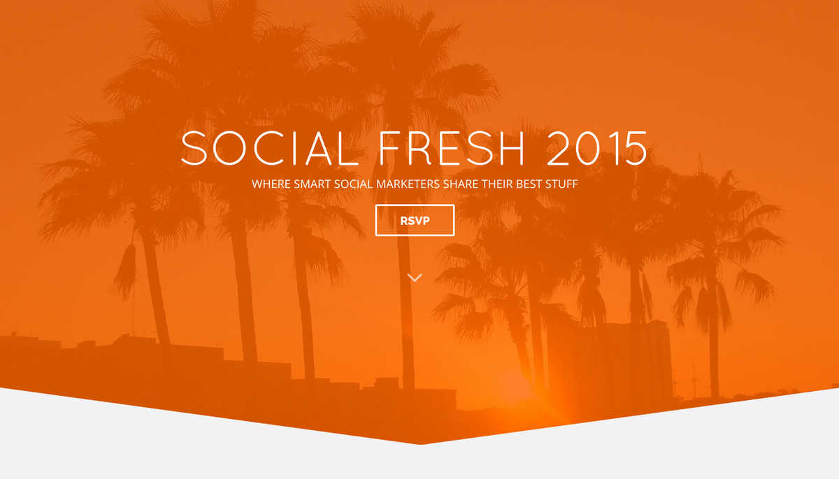 50 tickets just launched for Social Fresh 2015 in Tampa Bay http://t.co/q8BxCA82F5 http://t.co/evFvhEkjFD