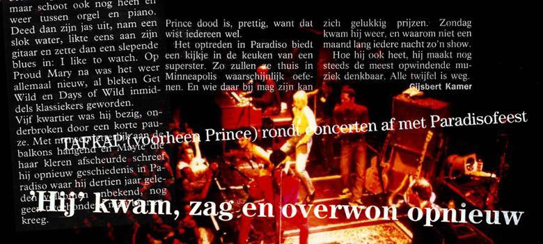 Voor de #Prince-liefhebbers nog eenmaal. Vandaag terug naar 26 maart 1995, 20 jaar geleden. http://t.co/soioWN22Ga http://t.co/niKn7CDNB1