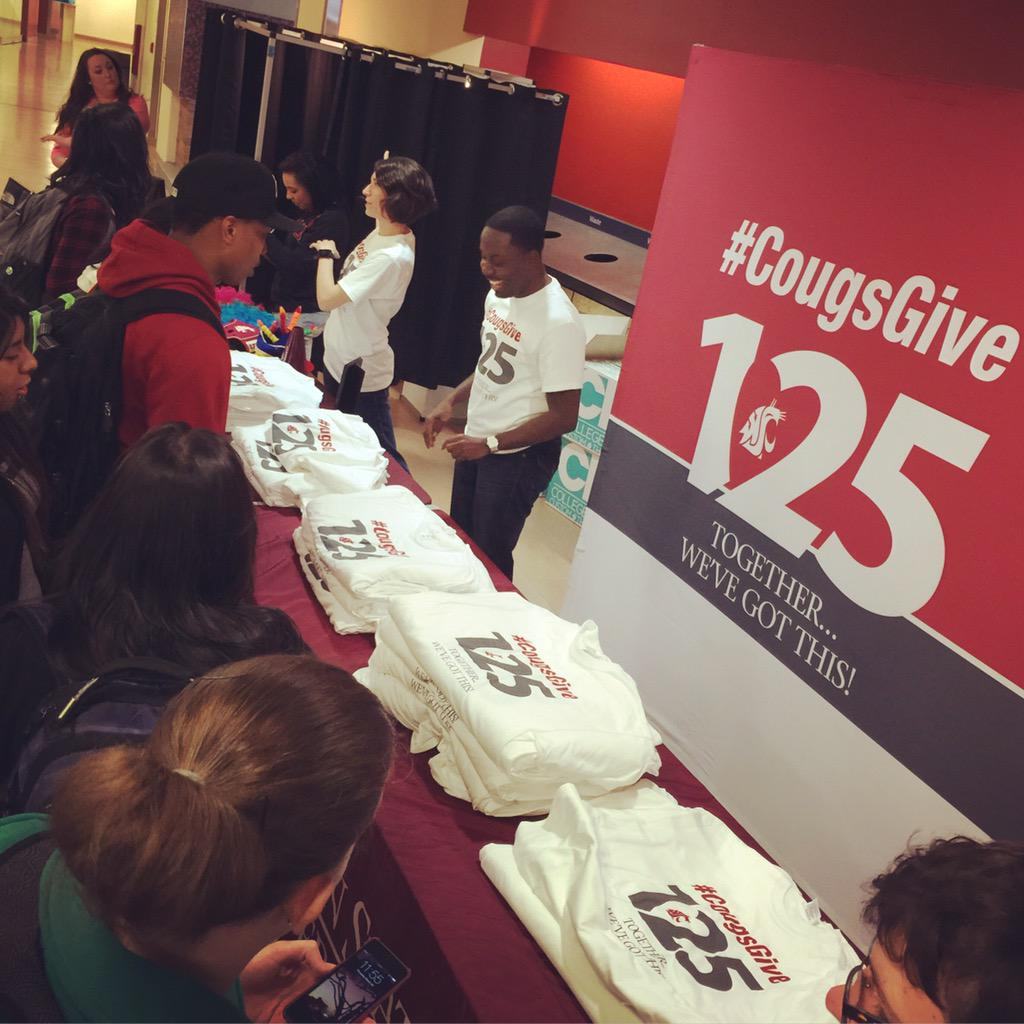T shirts in the CUB! Support #CougsGive125 at http://t.co/47ZiEgKfA6 #GoCougs #WSU #WSU125 http://t.co/cEiyOjQTeV