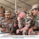 Photo: His Majesty the Supreme Commander of @ArmedForcesJO, attends a tactical military exercise #Jordan #JO http://t.co/a5odSDFY3I