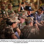 Photo: His Majesty the Supreme Commander of @ArmedForcesJO, attends a tactical military exercise #Jordan #JO http://t.co/FrHueHOxxl
