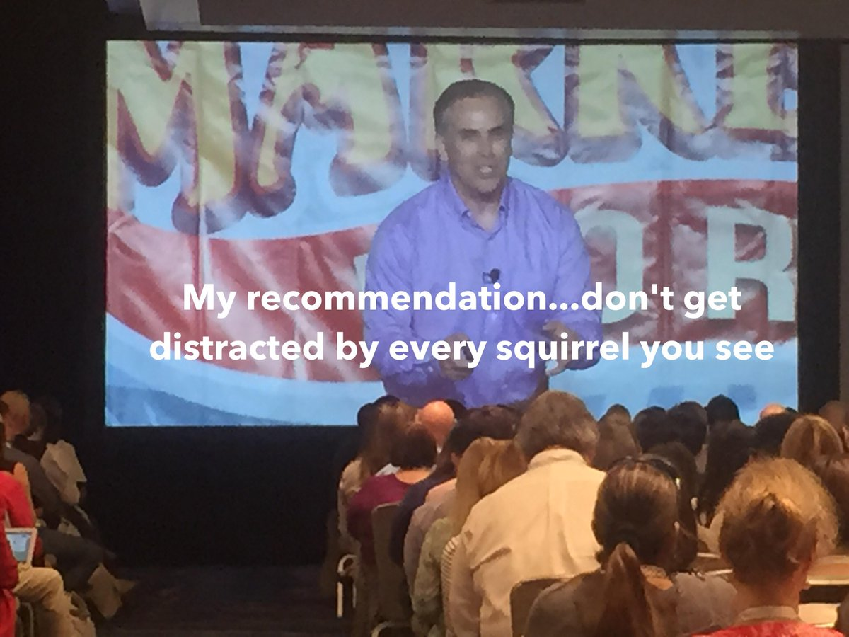 """My recommendation...don't get distracted by every squirrel"" @Mike_Stelzner #smmw15 #smmw15OutofContext http://t.co/4saaPQyueZ"