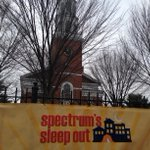 LIVE: @EmilieStigliani bravely video blogs where no @bfp_news has video blogged before! #SpectrumSleepOut http://t.co/FSoKXdOYG5 #btv #vt