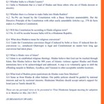 RT @ArvindChaturved: Hindustan's identity and conversion etc Answers by Dr @Swamy39 http://t.co/qcs2US5yoC