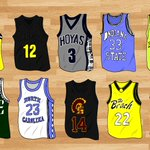 Triangle Offenses best NCAA jerseys of all time. Who ya got? Hard to separate player from jersey. http://t.co/FtVjF1JuxK