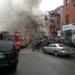 BREAKING NEWS: Building Collapse with explosion in Manhattan. (@Jamie_S_Kennedy http://t.co/wzr2UevBjv