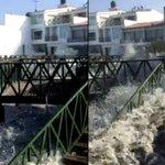 Mira los fuertes oleajes que azotan balnearios en La Libertad [VIDEO] vía #WasapEC ► http://t.co/u0quYw5Vl3 http://t.co/FqnLDWgRW2
