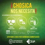 #VidaUP ¡Apoya a los damnificados de Chosica! Mañana habrá una carpa en la Plaza Geis para dejar donaciones. http://t.co/dNovIt3uHJ
