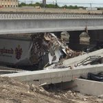 One person is dead and multiple injuries after a bridge collapses over I-35 in Salado. All lanes closed (via @kwtx) http://t.co/Klc3ntkyjq