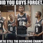 """@NBAMemes: NEVER sleep on the San Antonio Spurs. http://t.co/EUAtDzTBOf"""