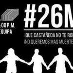 Si los medios temen a Castañeda y no le cuestionan nada,sólo queda hacérselo saber desde hoy #26M #EncadénatePorLima http://t.co/2knzmROypr
