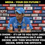 Brilliant Reply By Dhoni, Trolls Indian Media.#ShameOnTimesNow #DareToBeDhoni #IndvsAus #AUSvIND #WeGaveItBack #CWC15 http://t.co/nDaBEbsF7P