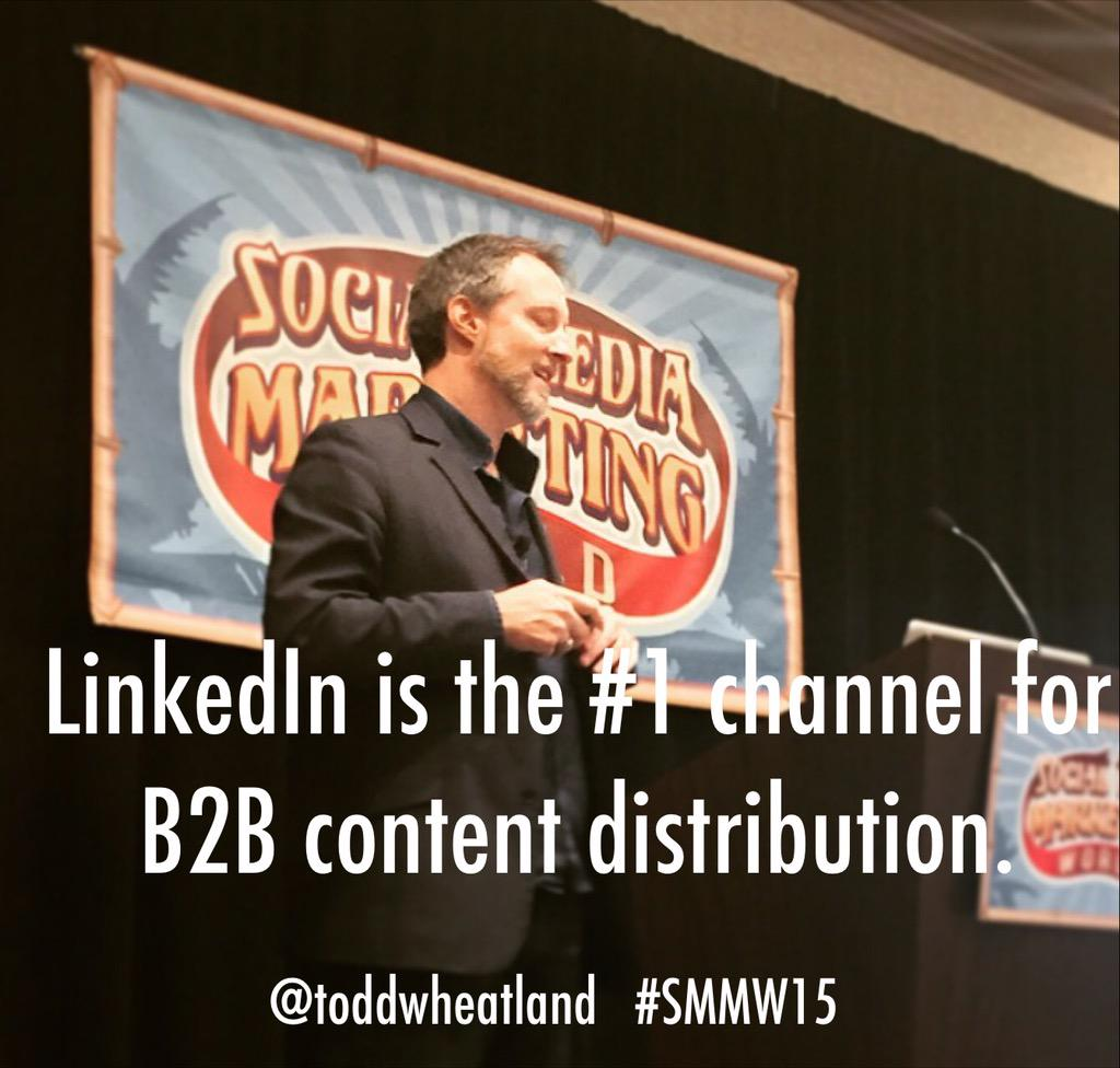 Great presentation on LinkedIn and SlideShare by Todd Wheatland #SMMW15 http://t.co/WFqlYlDYzT