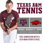 The first 150 students at tonights match vs. Arkansas receive a Texas A&M bandana! #12thMan http://t.co/07P9tfe100