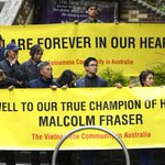 Australias Vietnamese community have turned out to farewell their father Malcolm Fraser. http://t.co/7wHUleJkHT http://t.co/VZZEgQJVL7