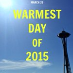 Its the warmest day of the year so far. Parts of Western Washington are in the 70s http://t.co/EY6qHUyfkh http://t.co/p4zgIsLC4p