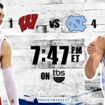 A spot in the #Elite8 is on the line as No. 1 Wisconsin takes on No. 4 North Carolina on TBS: http://t.co/DmZap7IR3Y http://t.co/xlFyYrTZpB