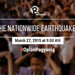 TWEET your photos doing the DUCK, COVER, HOLD! WATCH: National Earthquake Drill http://t.co/9YyCKFdoUu #OplanPagyanig http://t.co/KAlthkIOES