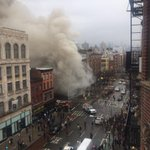 Explosion reported in New Yorks East Village; injuries unknown - @ScottWesterfeld; for more: http://t.co/dXEn6gh2iw http://t.co/qg6f6nR9a9