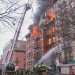 BREAKING: Major fire, explosion, and collapse reported at 7th Street & Second Avenue in East Village in NYC. http://t.co/Otb703lDxL