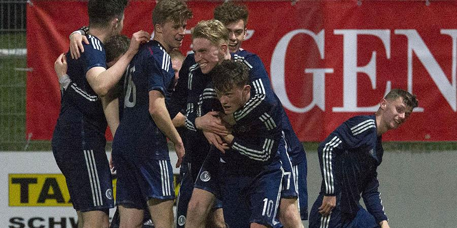 RT @ScottishFA: FT | Austria U19 1-2 Scotland U19 | Henderson's double sends Scotland top of their Elite Round group! #WeAreScotland http:/…