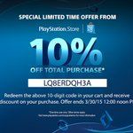 Surprise! Get a 10% discount on PlayStation Store this weekend. Full details: http://t.co/B7IhOr7BqK http://t.co/La1Hhl5awE