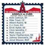 Here's how the #Angels line up today vs. the Cubs. #LAASpring http://t.co/1cNgxTaJ0J