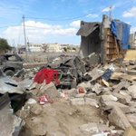 Destruction from the Saudi Airstrikes in outskirts of Sanaa (3). #Yemen http://t.co/tlTVzbFfxD