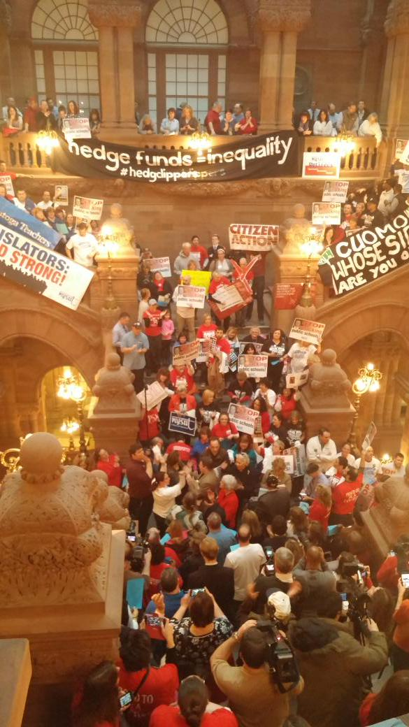 RT @calbanetti: NOW: Million $ staircase packed with teachers, parents standing up for public education. #AllKidsNeed http://t.co/GJQ7sjL4pg