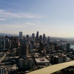 What a view today! RT @Chaitanya_Datye: Another city from the top. #spaceneedle #Seattle http://t.co/Fk2eQTd5O6