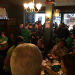 Notre Dame fans packing Flannerys Irish pub in Cleveland. Live report at 5pm on WNDU. Irish say theyre #notdoneyet http://t.co/hnHVBXW7q4