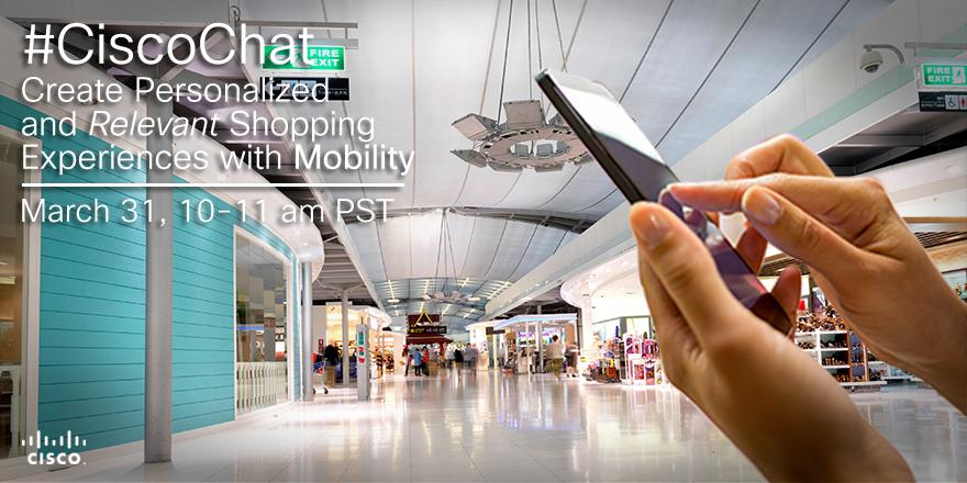 How do retailers stay competitive as #Mobility changes the industry? Join #CiscoChat on 3/31: http://t.co/FQ2XauOhxX http://t.co/BSe3qwh4Nr