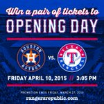 Times running out! Enter to win tickets to Opening Day on 4/10 with #RangersRepublic. Details http://t.co/J5WJlCWltP http://t.co/iz4fY0kt4X
