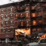 A fire in New Yorks East Village leaves at least a dozen injured, at least three critically http://t.co/s308dhXEod http://t.co/RA3uKjw06Q