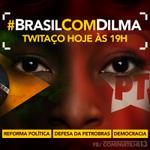 @Durval13PT COMEÇOU O TWITAÇO. VAMOS PARA O TWITTER E USEM A TAG #BrasilComDilma http://t.co/djjj252sUk