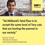 .@HumzaYousaf: Ed Miliband is committed to the same level of Tory cuts. #TheWiderDebate #VoteSNP #GE15 http://t.co/ChiDZgYfA0