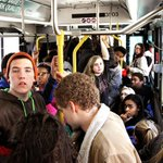 Route 6 Davenport CitiBus fills with students at stop near North HS. Adult riders complain about rowdy behavior. http://t.co/HAPT4VqCIZ
