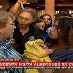 AHORA | Presidenta Bachelet explica a albergados que la prioridad es salvar vidas. http://t.co/ZtfUBsAhaN