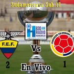 "En vivo Min. 85"" 2do Tiempo #Ecuador 2 - 1 #Colombia #SudamericanoSub17 @RadioHuancavilk #Guayaquil http://t.co/unLKqFJ9ji"