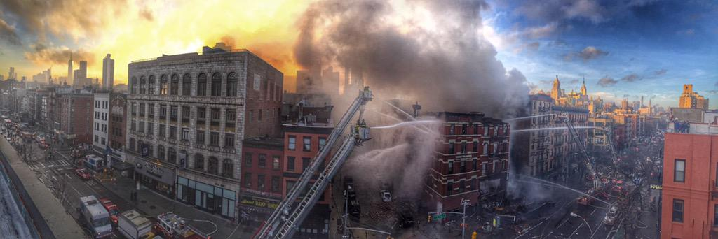 NYC Pic of the Year: RT @chadrachman: HDR pano of ongoing #FDNY operations in the #EastVillage... http://t.co/1pGXDvZRFz